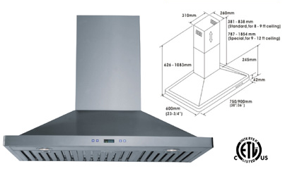 Range Hood LOTUS BRAND - LTS-01T-IS-30  CURBSIDE PICK UP AVAILABLE