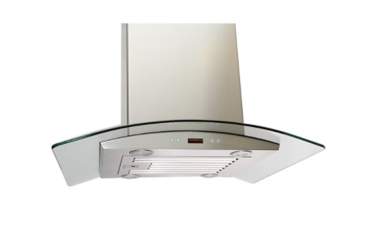 LOTUS Wall Mounted Range Hood in Stainless Steel with 6 Speed Levels - 900 CFM - 36-in. CURBSIDE PICK UP AVAILABLE
