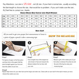 Ladingwu New Women Waterproof platform Satin Latin Dance Shoes Rhinestone Salsa Ballroom Dance Shoes Colors Apricot/Black