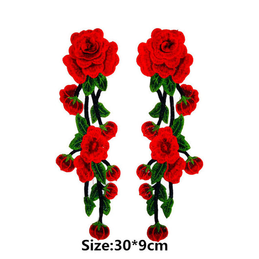 Large Flower Embroidery Applique Patches Sew on Pacthes Lace Fabric Motif Clothes Decorated DIY Sewing Supplies