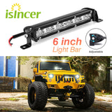 "Led Beams 6"" inch 18W LED Car Work Light Bar Spotlight Offroad Fog Lamp Vehicle 18w Work Lamp LED 12V Work Light Car Styling"