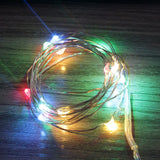 Led Fairy Lights Battery Operated 20 Warm White Globe Bulb Led String Lights Waterproof Outdoor Lighting Garden  Xmas Decoration
