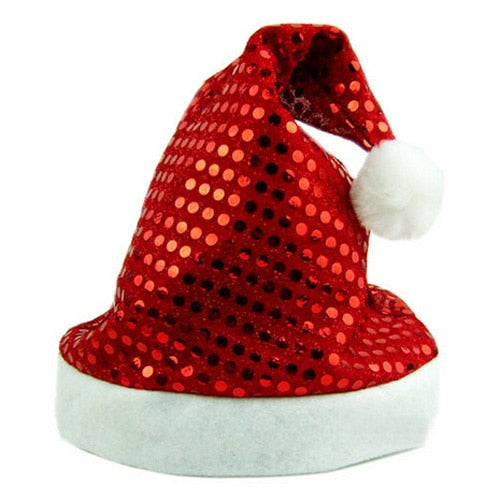d8c4fcfe547 MEOF Hot Deluxe Sequin Santa Hat Outfit Accessory for Christmas Nativity  Fancy Dress