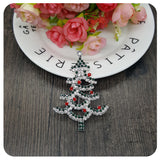 MOOSA New 2017 Christmas Tree Pins and Brooches Handmade with Rhinestones For Women Suits Scarfs Dresses Hats Christmas Gifts