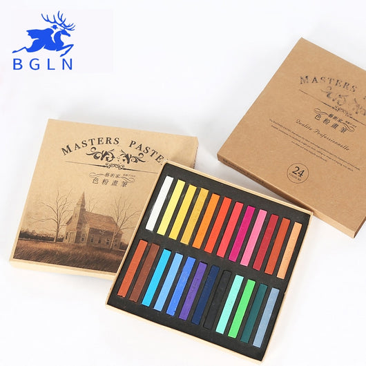 Marie's Painting Crayons Soft Pastel 12/24/36/48 Colors Art Drawing For Student Chalk Color Crayon Brush Stationery Art Supplies