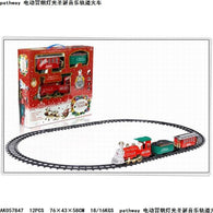 Model Electric Smoke Light Christmas Music Rail Train Christmas Series Creative Gifts Toy