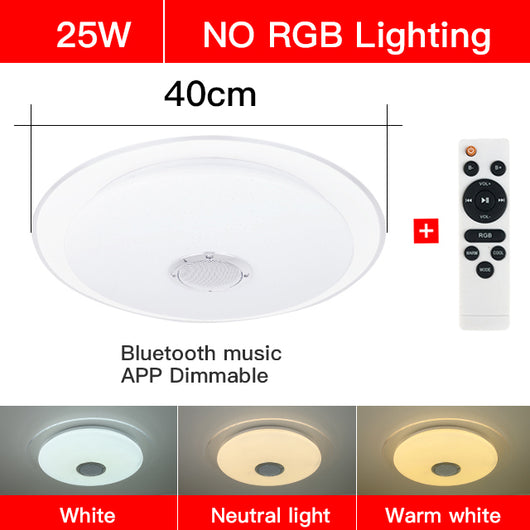 Ceiling Lights & Fans Modern Led Ceiling Lights Rgb Dimmable 25w 36w 52w App Remote Control Bluetooth Music Light Foyer Bedroom Smart Ceiling Lamp Ceiling Lights