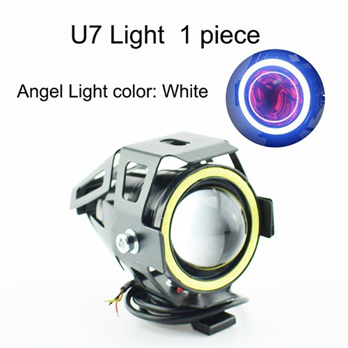 Home Popular Brand Motorcycle Headlight 3000lm 125w 12v Upper Low Beam Flash U7 Led Driving Moto Fog Spot Head Light Motorbike Auxiliary Lamp Drl