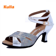 New Arrival Open Toe Women Adults Latin Dance Shoes Salsa Tango Dancing Shoes For Ballroom Party Girls Wedding Shoes Rubber Sole