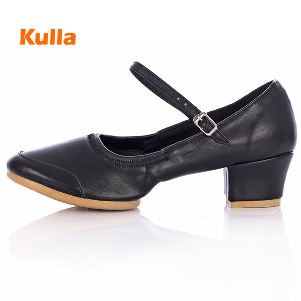 New Dance Shoes For Women Hard bottom Latin Dance Shoes Ballroom/Outdoor Ladies Practice Dancing Shoes Middle Heel Female Shoes
