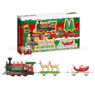 New Style Santa Claus Electric Train Sound-And-Light Christmas Train with Camera Track Model Car Camera Track Toy