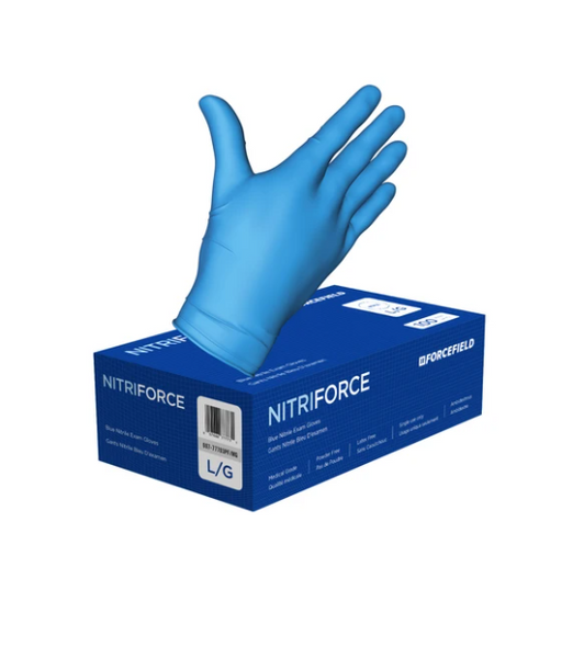 NitriForce Nitrile Medical Disposable Examination Gloves (Case of 1000 Gloves) Sold by box of 100/Dispenser