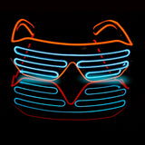 Novelty LED Glasses Light Up Shades Flashing Luminous Rave Night Christmas Activities Wedding Birthday Party Decoration 4 Colors