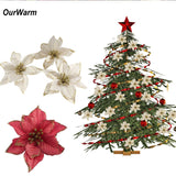 OurWarm 10PCS Artificial Flowers Christmas Decorations for Home Christmas Tree Ornaments Xmas Tree New Year Decor Navidad 2018