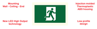 Emergency Thermoplastic Running Man Sign PL-707RM-ABS