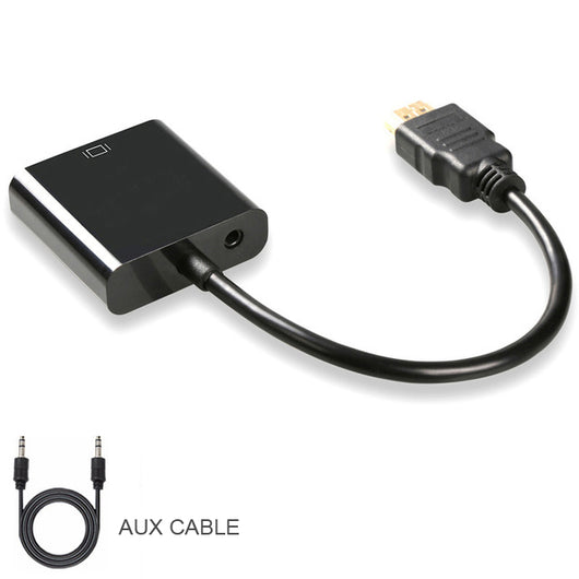 QGeeM HDMI to VGA Adapter Digital to Analog Video Audio