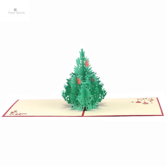 3D Laser Cut Pop Up Paper Handmade Greeting Cards Merry Christmas Tree Xmas Home
