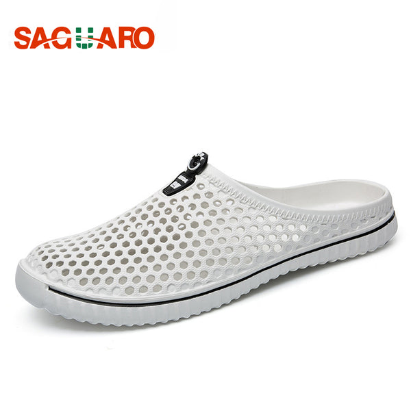 SAGUARO 2018 Summer Slippers Men Hollow Out Breathable Beach Flip Flops Unisex Casual Slip-on Flats Sandals Men Shoes zapatos