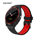 SCELTECH Bluetooth Smart Watch V9 with Camera Smartwatch Pedometer Health Sport Clock Hours Men Women Smartwatch For Android IOS