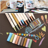 STA 10Colors Metallic Marker Pen DIY Scrapbooking Crafts Soft Brush Pen Art Markers For drawing Stationery School Art Supplies