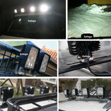 "Safego 2x 4"" 27W LED Work Light 12V 24V off road 4X4 car Trucks ATV 4WD Tractor led offroad lights flood spot Driving Lamp"