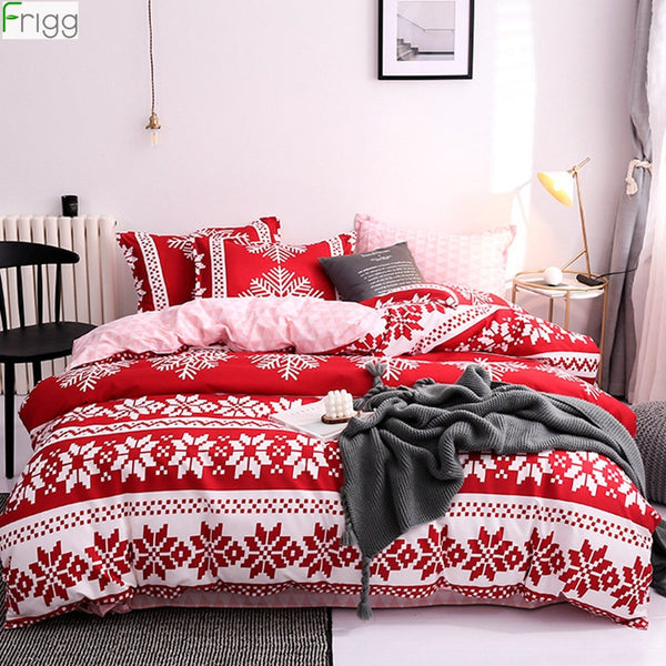 Snowflake Bedding Set Merry Christmas Ornaments Christmas Decoration For Home Navidad 2019 New Year Gift Cristmas Deco Noel 2020