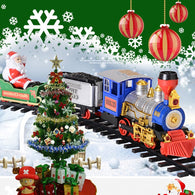 Steam Electric Train Christmas Santa Claus Track Toys Simulation Smoke Light Music Children's Birthday Gifts Toy Cars 235294