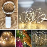 String Lights Micro Copper Light 10/20 LED CR2032/AA Battery Operated for Party Vase Gift Dress Bedroom Bikes Holiday Decoration