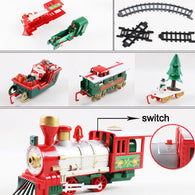 Track Small Train Toys For Children Electric Plastic Trains Simulation Classic Power Rc Track Trains Set Holiday Christmas Gifts