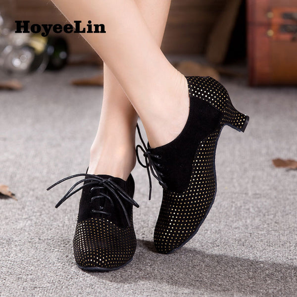 Women Ladies Indoor Lace Up Modern Dance Shoes Heeled 3.5cm/5.5cm/7cm Tango Salsa Dancing Shoes Ballroom Party Dance Heels