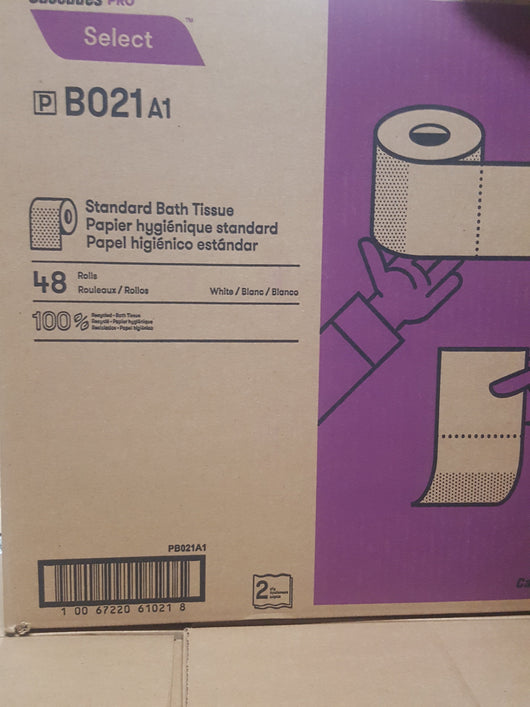 Economical Standard Bathroom Tissue 48 Rolls