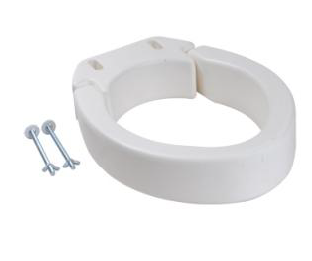 Folding Raised Toilet Seat - Round