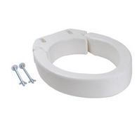 Folding Raised Toilet Seat - Oval
