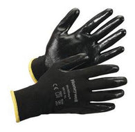 Black Nylon Working Gloves Sold by 12 pairs
