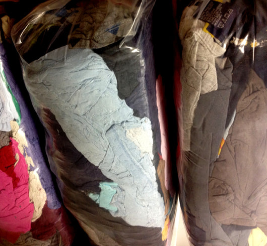 T-shirt Rags Colored (25lbs)