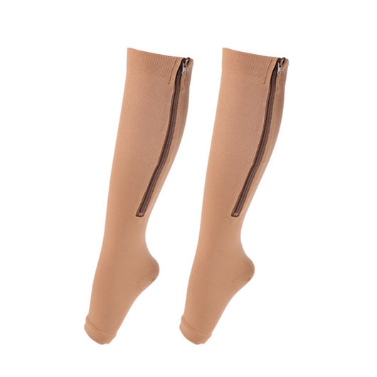 Underwear & Sleepwears Lkwder 1 Pair Unisex Compression Socks Zipper Leg Support Knee Socks Women Men Open Toe Thin Anti-fatigue Stretchy Sox Socks Men
