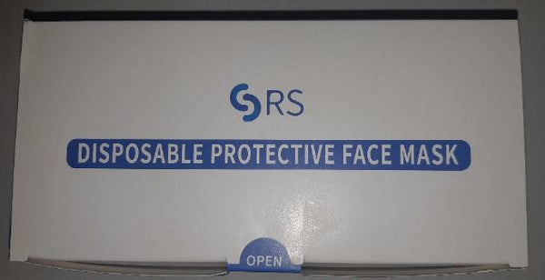 Disposable Protective Face Mask 3ply 50pcs/Box CURBSIDE PICK UP AVAILABLE