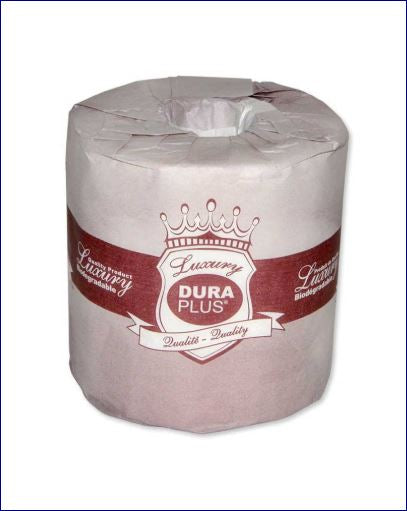 DURA PLUS Quality 2 Ply Bathroom Tissue 500 Sheets/Roll LX500R48