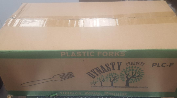 Regular Plastic Forks 1000/Cs White.