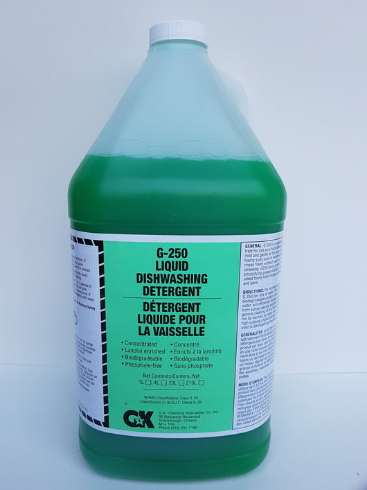 G-250 Liquid Hand Dishwashing Detergent 4X4L CURBSIDE PICK UP AVAILABLE