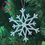 inhoo Fashion Mini 10pcs/pcs Colorful Hanging Glitter snowflake Christmas Tree Baubles Ball Wedding Party Decoration Ornament