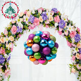 inhoo Home decor Christmas ball festive opening flower ball decor creative hydrangea store decorations hotel wedding decoration