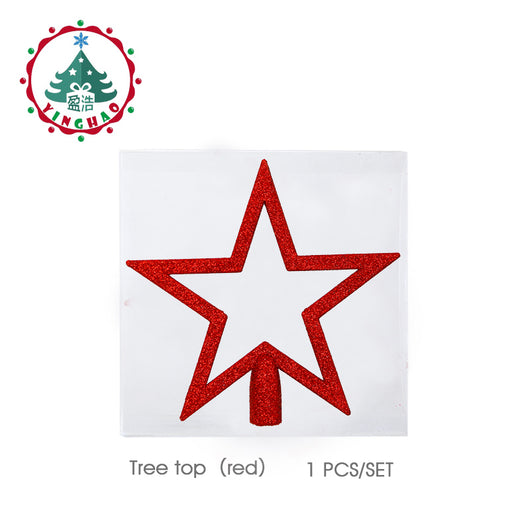 inhoo red christmas tree top decorations stars for home house table topper decor accessories ornament xmas