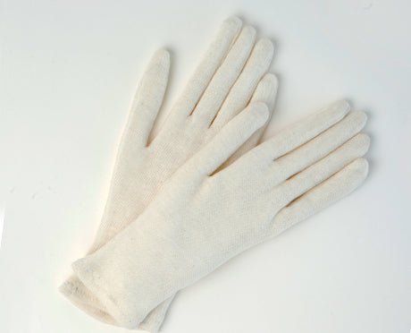 LADIES/Men POLY/COTTON INSPECTOR'S GLOVES, HEMMED CUFF 12Pairs