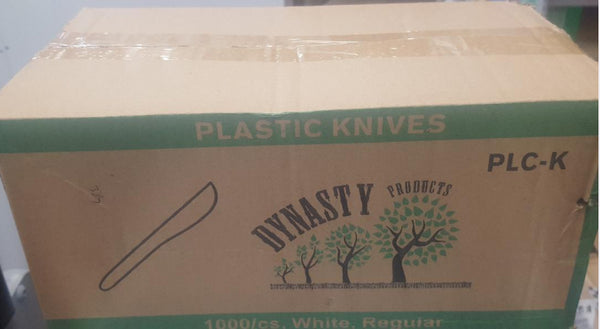 Regular Plastic Knives  1000pcs, 28/L White