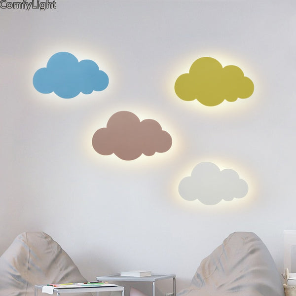 modern Nordic Wall light Lamp kids room clouds bedroom bedside kitchen minimalist Wall sconces LED color for indoor home shop