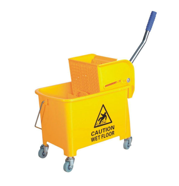 Yellow Mop Buckets and Wringer Set