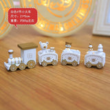 new Christmas train painted wood with Santa/bear Xmas kid toys gift ornament navidad Christmas Decoration for home new year gift