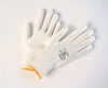 WHITE PALM COATED POLYURETHANE ON WHITE NYLON LINER GLOVES 12Pairs