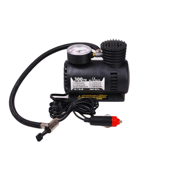Franchise 12v Car Electric Mini Compact Compressor Pump Bike Tyre Air Inflator 300psi New  #0614